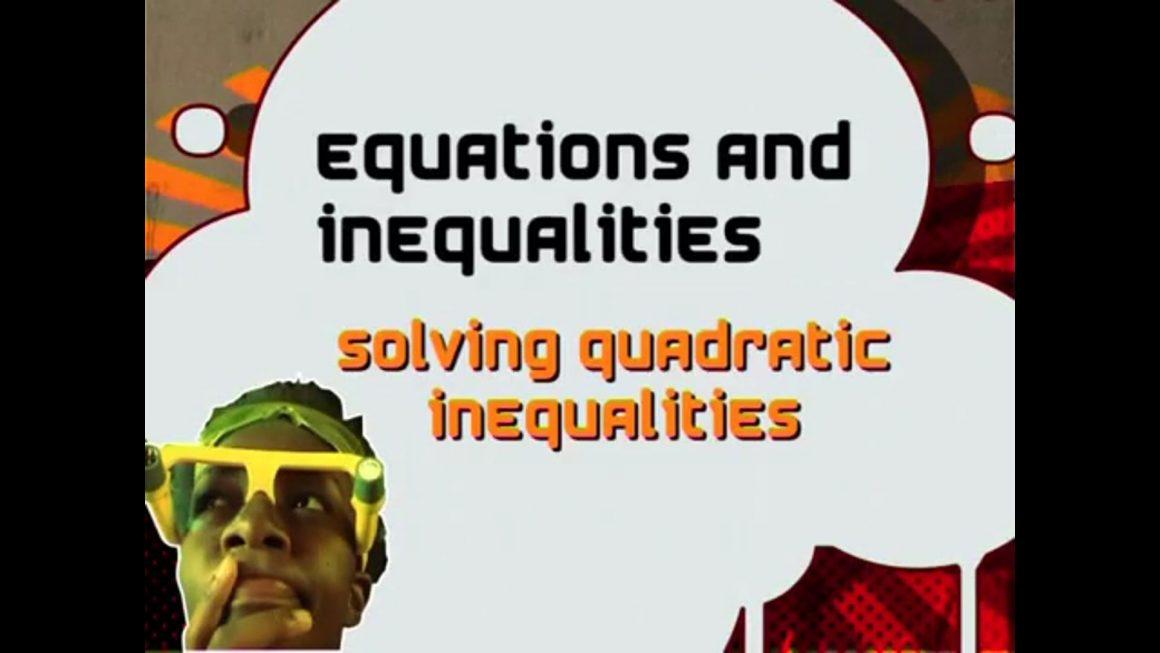 12 Solving Quadratic Inequalities
