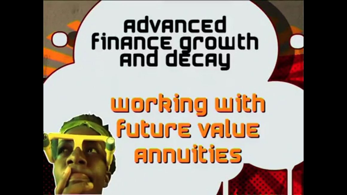 22 Working with Future Value Annuities