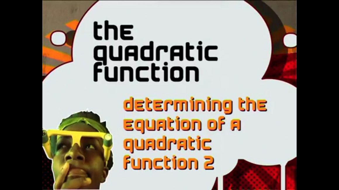 27 Determining the Equation of a Quadratic Function II