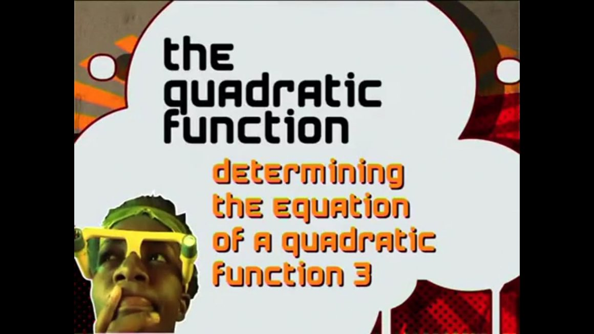 28 Determining the Equation of a Quadratic Function III