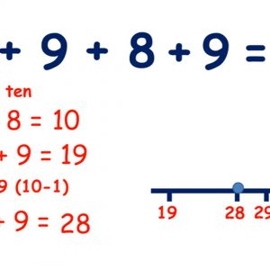 Add multiple single-digit numbers by starting with the largest, making 10 or bridging