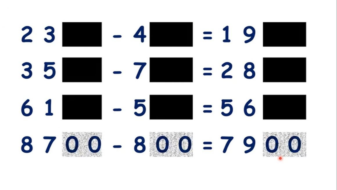 Add or subtract multiples of 100 beyond 1000