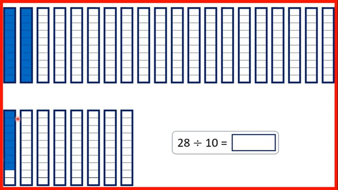 Decimals – Divide one- or two-digit numbers by 10 to make tenths