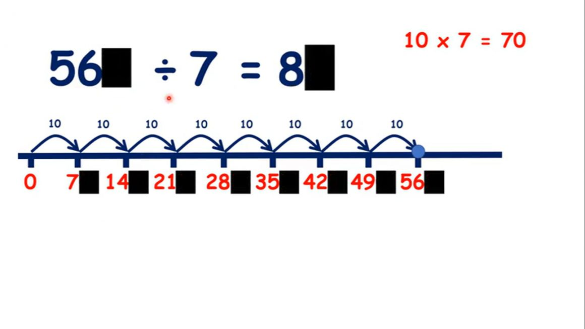 Divide 10 – Divide a multiple of 70 by 7