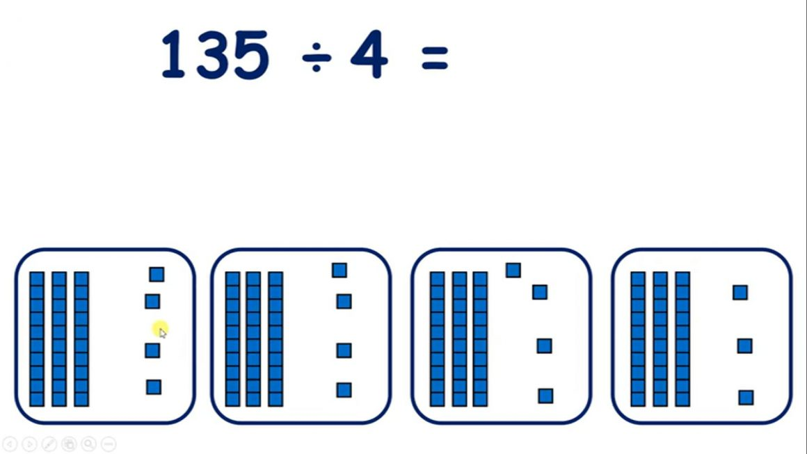 Divide two- and three-digit numbers by single-digit numbers using a simple method with remainders
