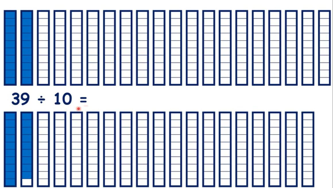 Divide two-digit numbers by 10