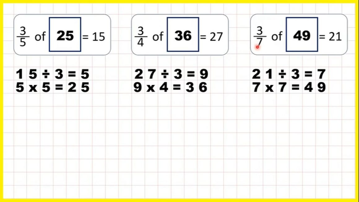 Find a whole quantity give the quantity represented by a non-unit fraction – Your Turn