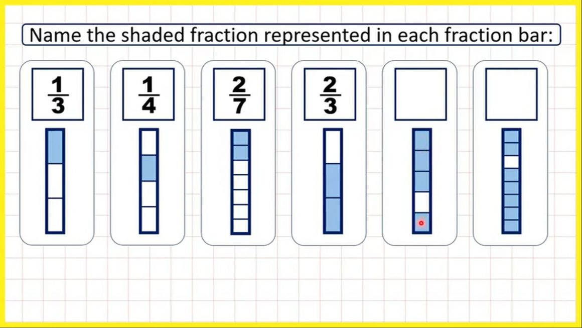 Fractions – Identify a fraction as part of a whole – Your Turn