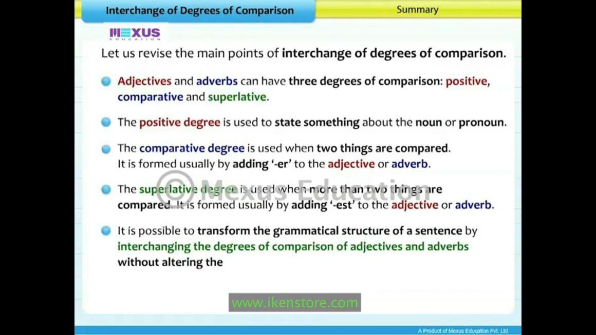 Interchange of Degrees of Comparison