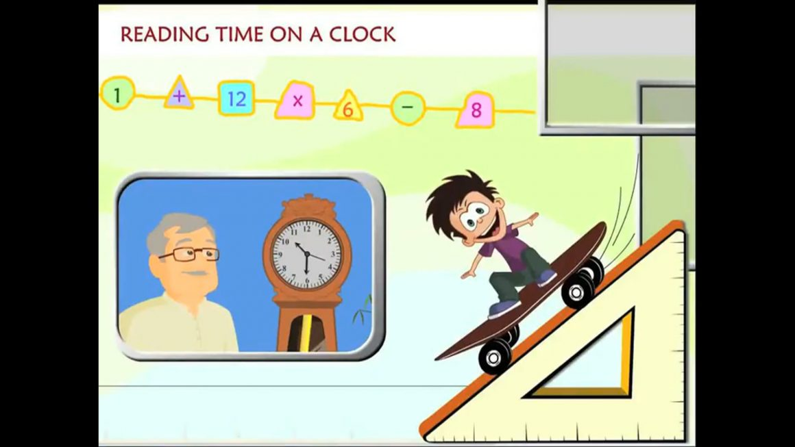 Math for kids – Read Time on a Clock
