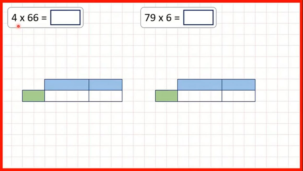 Multiply by a two-digit number using the grid method