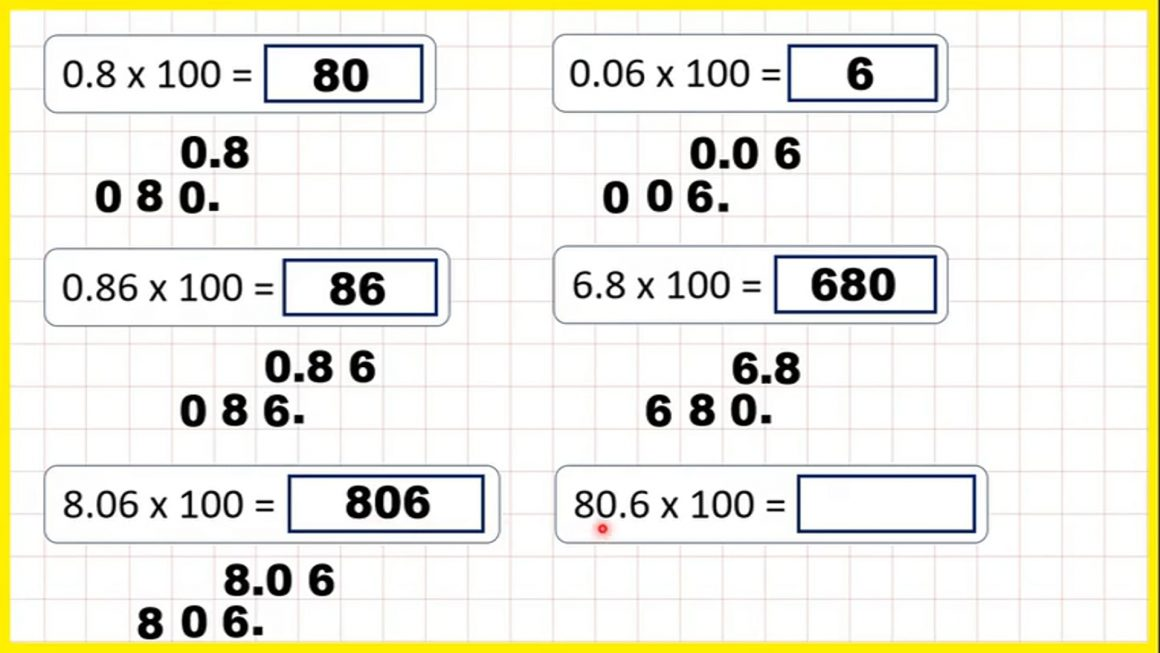 Multiply decimals by 100 – Your Turn.mp4