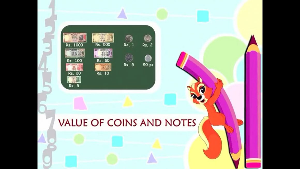 Cool Math – Value of Coins and Notes
