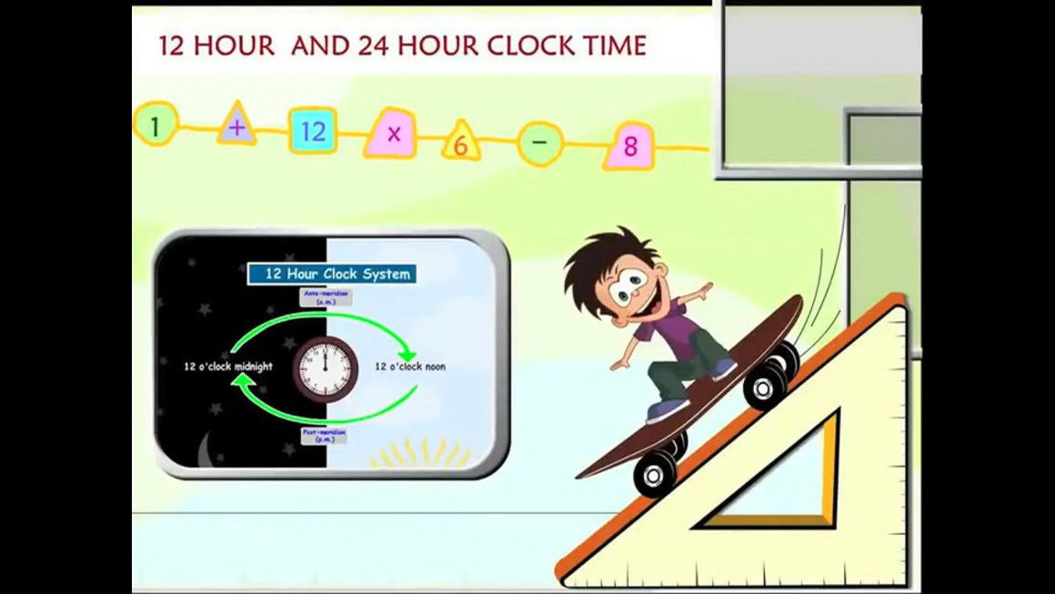 Math for kids – 12 Hour and 24 Hour Clock System