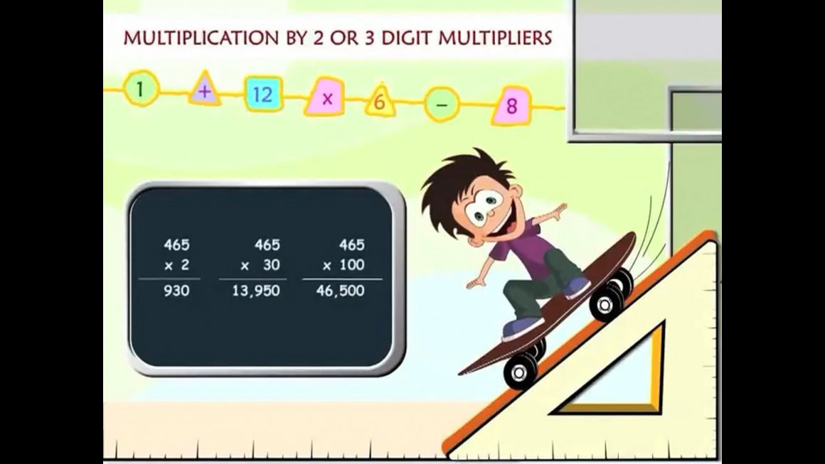 Math for kids – Multiplication by 2 or 3 digit Multipliers
