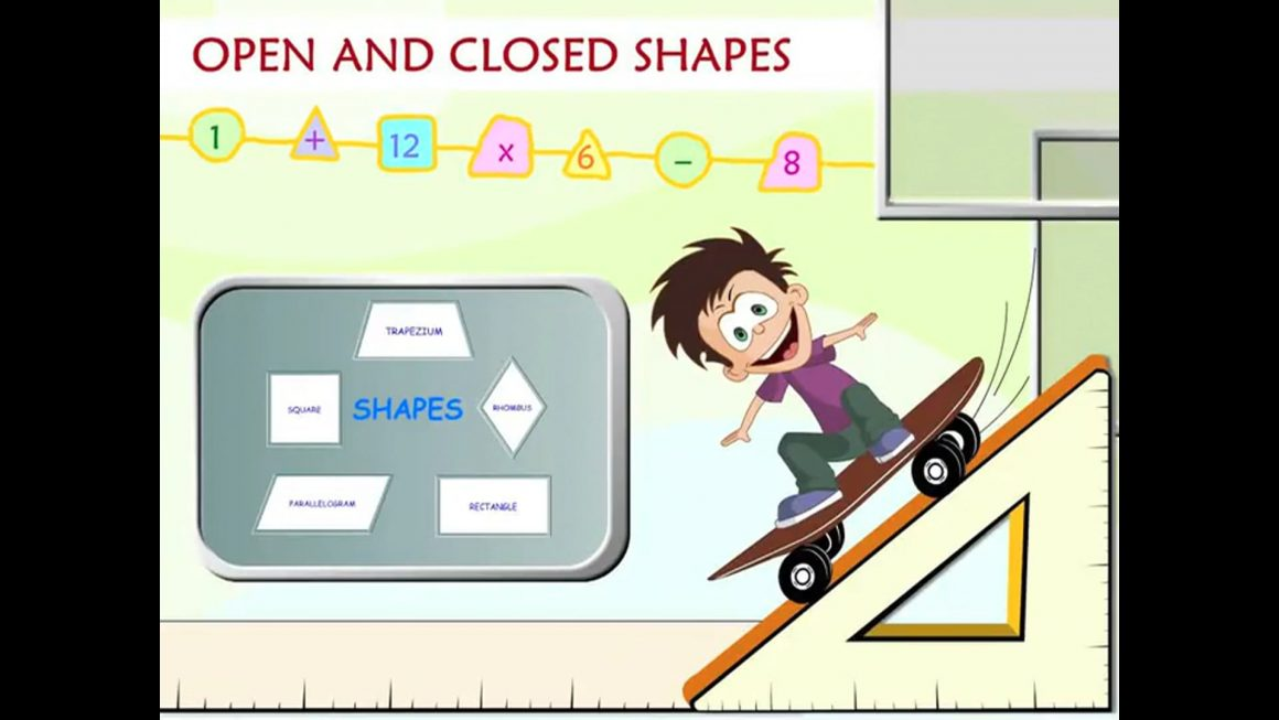 Math for kids – Open and Closed Shapes