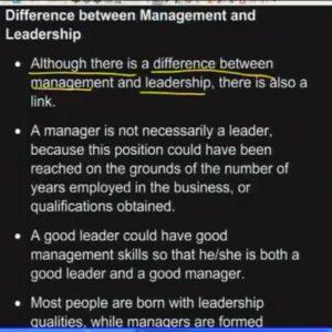 10 Leadership vs Management