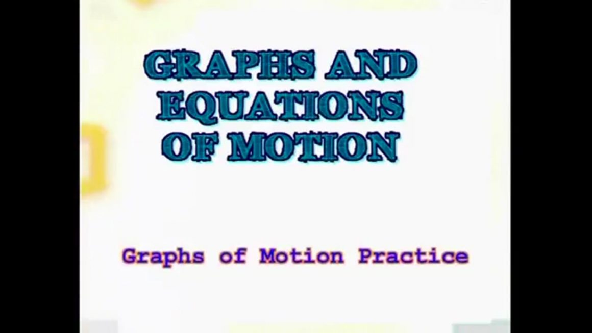 112 Practicing Graphs of Motion