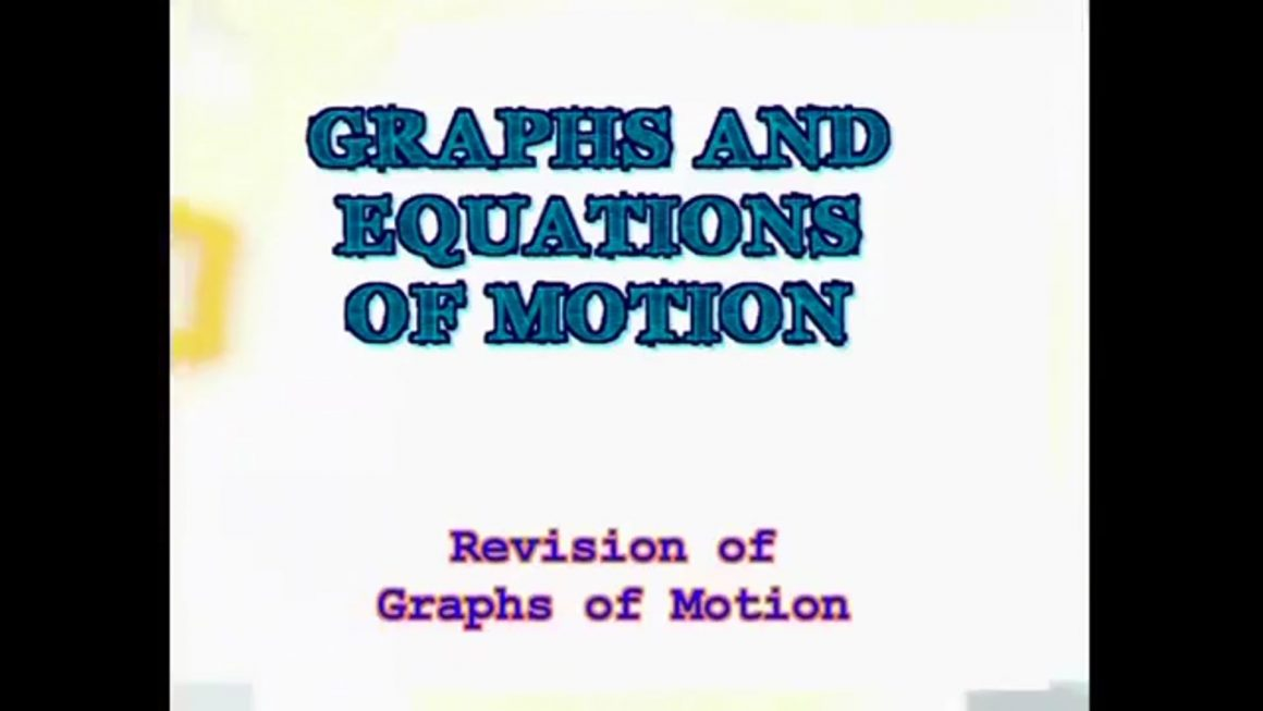 111 Revision of Graphs of Motion