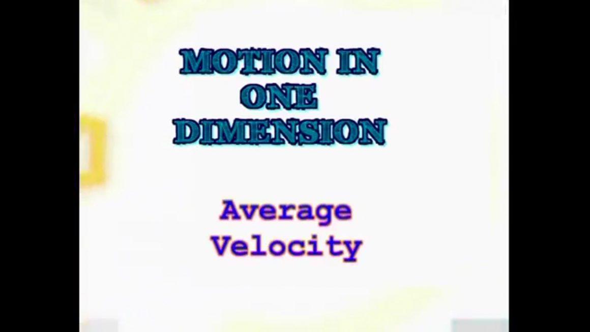 106 Average Velocity
