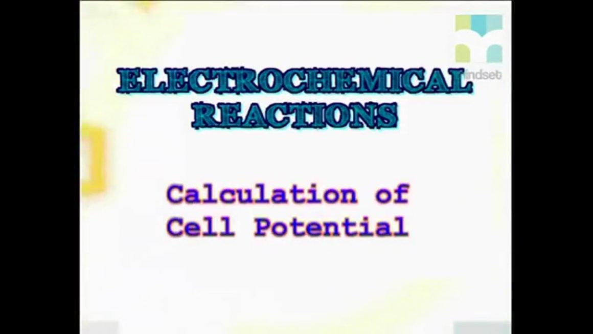 70 Calculation of Cell Potential