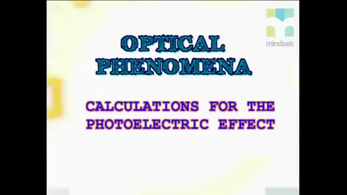 62 Calculations for Photoelectric Effect