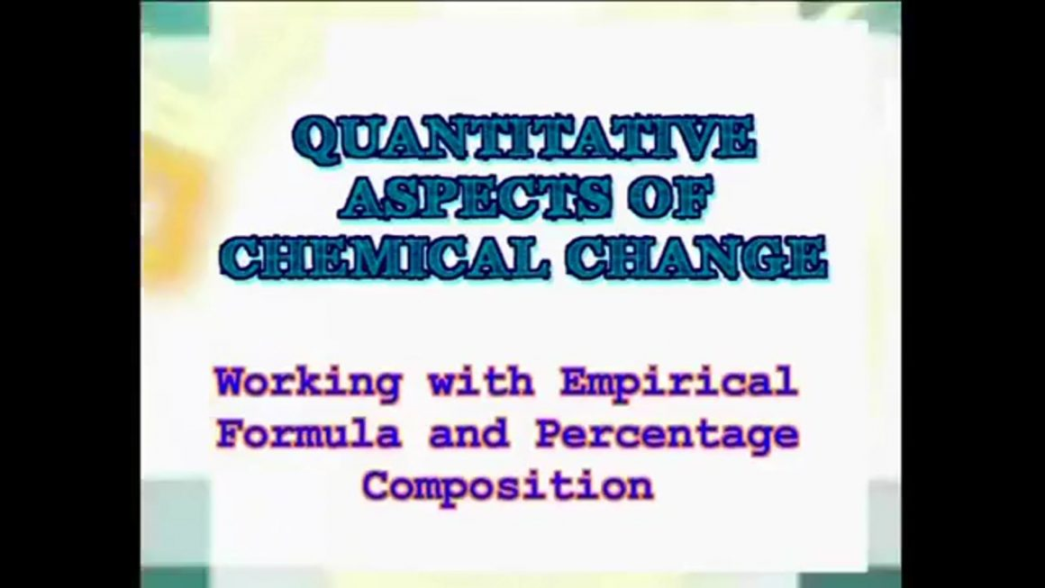 98 Working with Empirical Formula and Percentage Composition