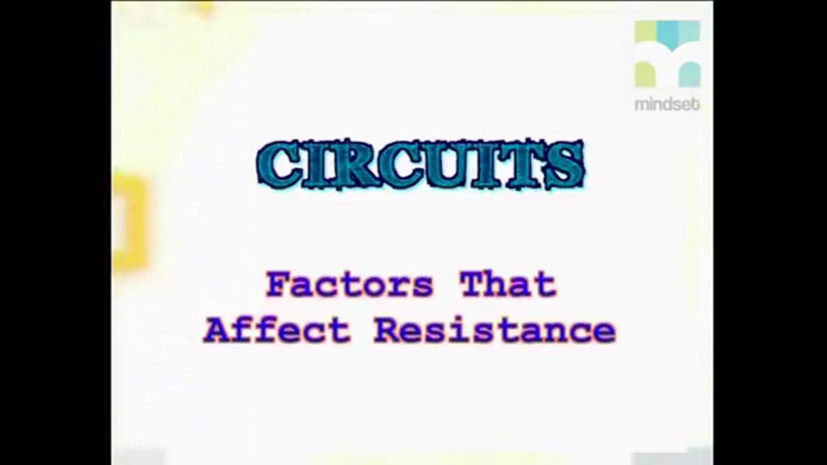 81 Factors that affect resistance