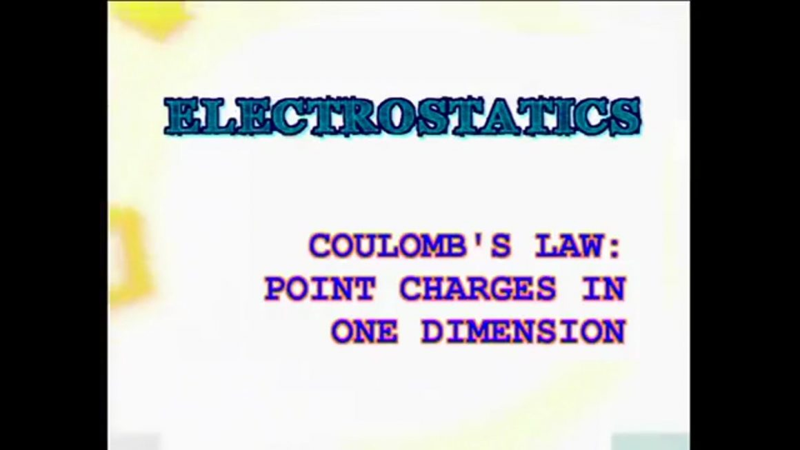 65 Coulomb's Law – Point Charges in One Dimension