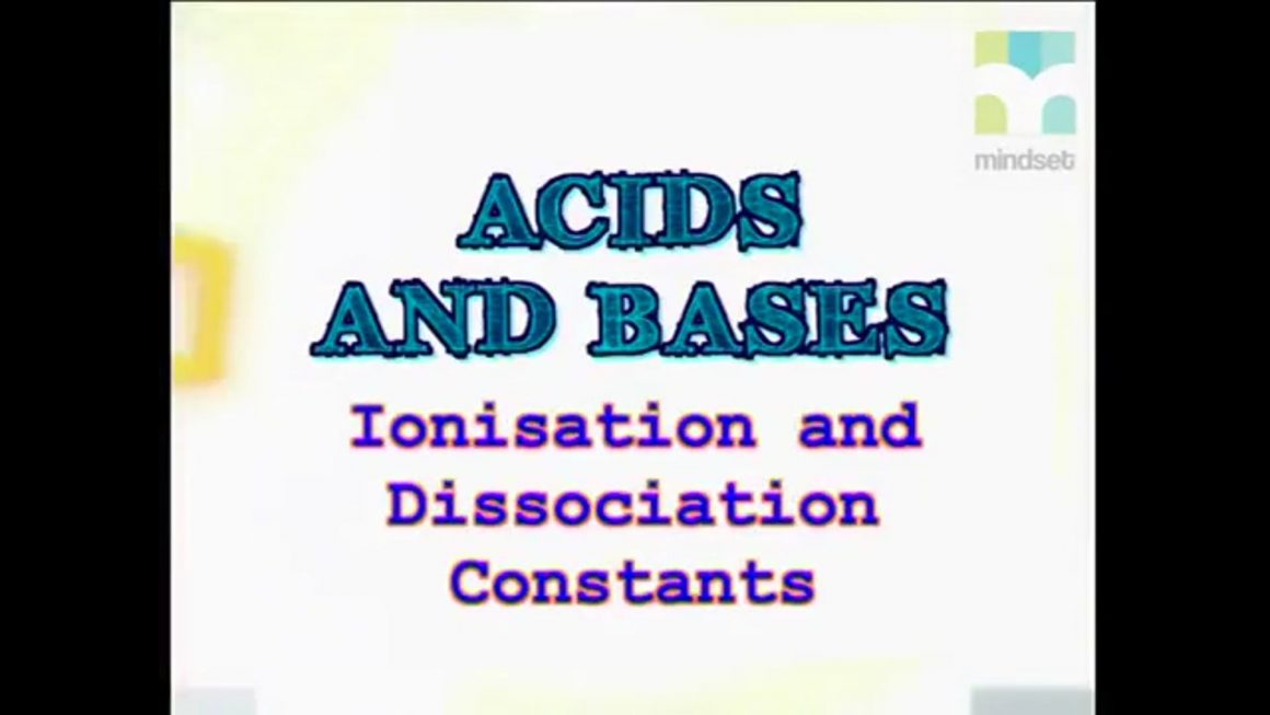 50 Ionisation and Dissociation Constants