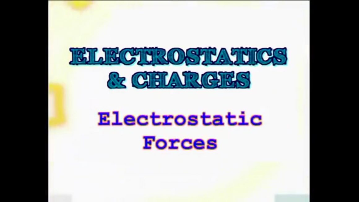 71 Electrostatic Forces