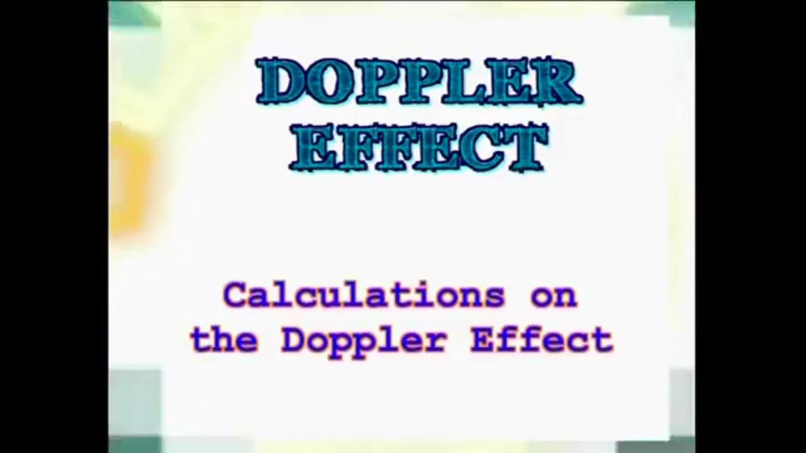 31 Calculations on the Doppler Effect