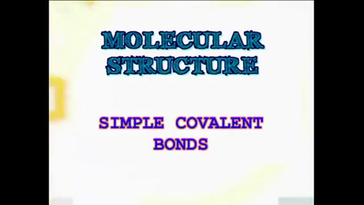 22 Simple Covalent Bonds