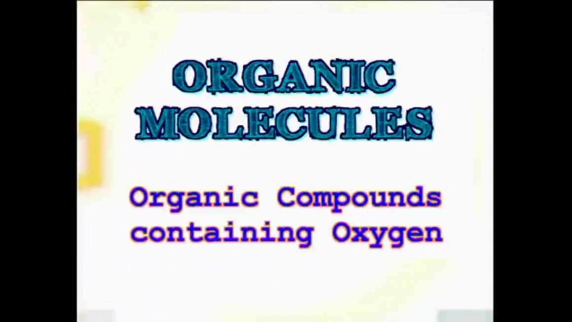 16 Organic Compounds containing Oxygen