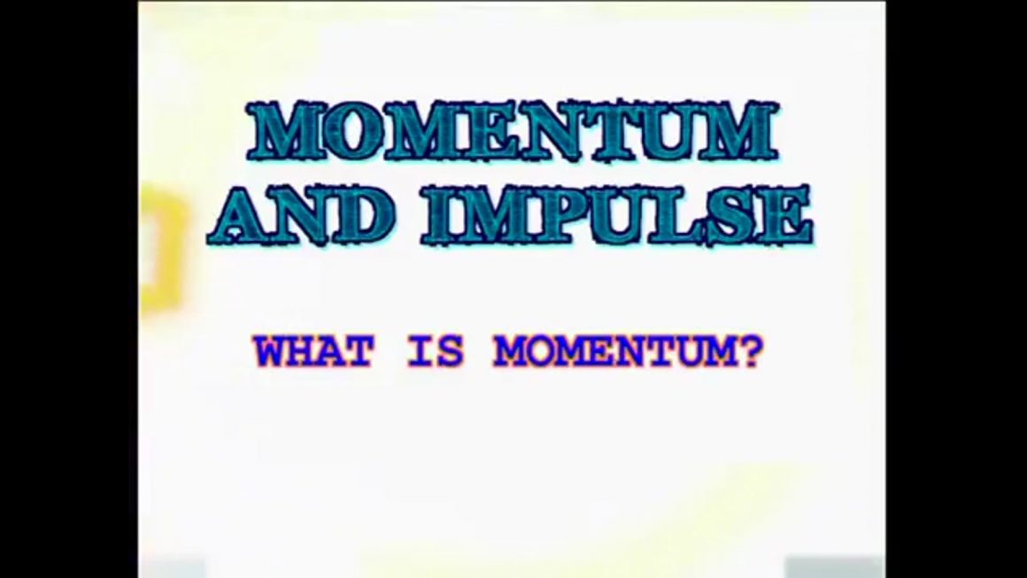 01 What is Momentum Physics Lesson