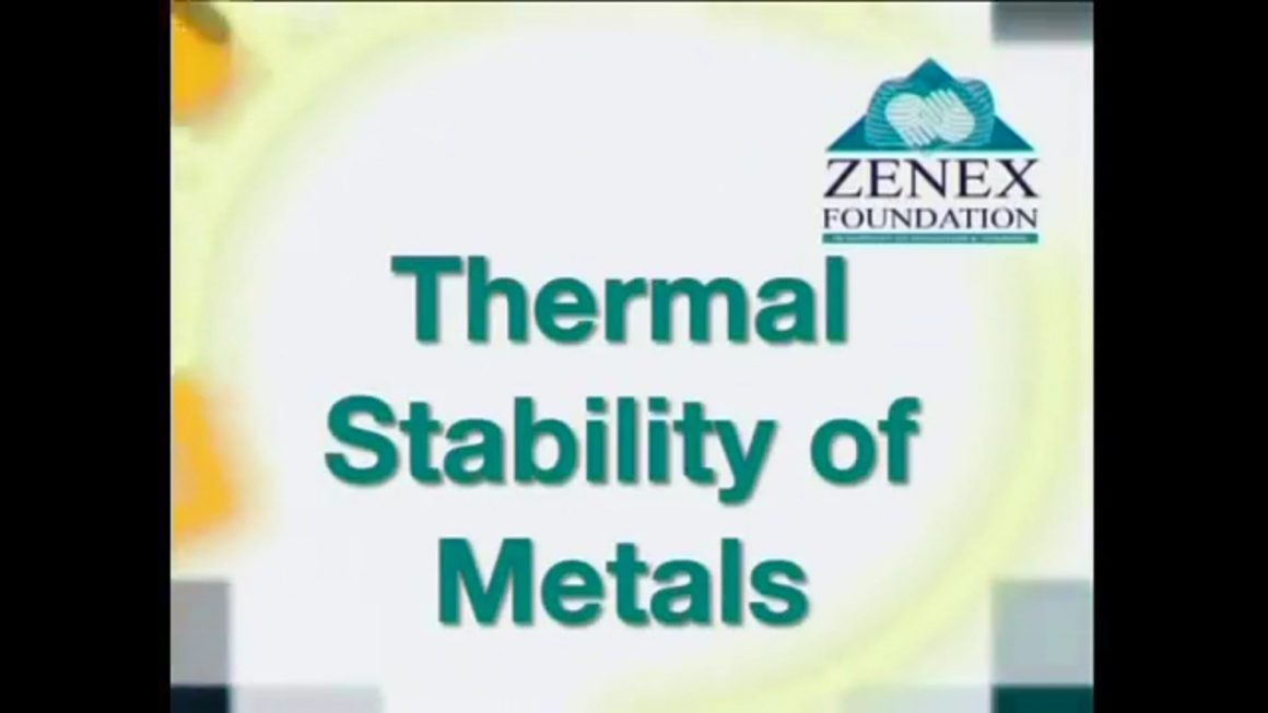 12 Thermal Stability of Metals