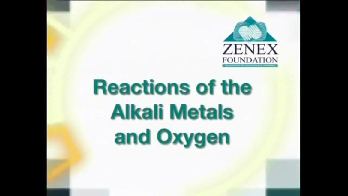 05 Reactions of Alkali Metals with Oxygen