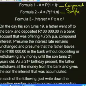 12 Revision – Finance 1