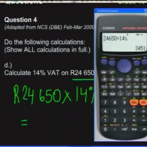 7 Revision – Calculations & Graphs 1