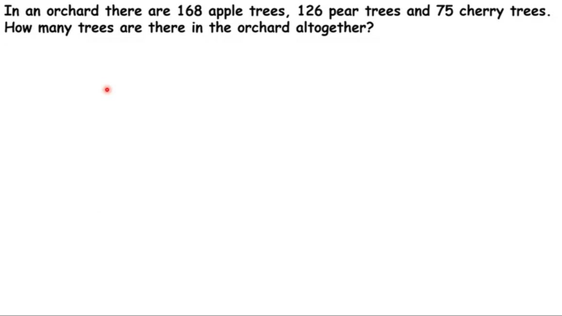 There are apple trees in an orchard