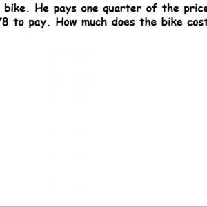Warren buys one fraction of the bike