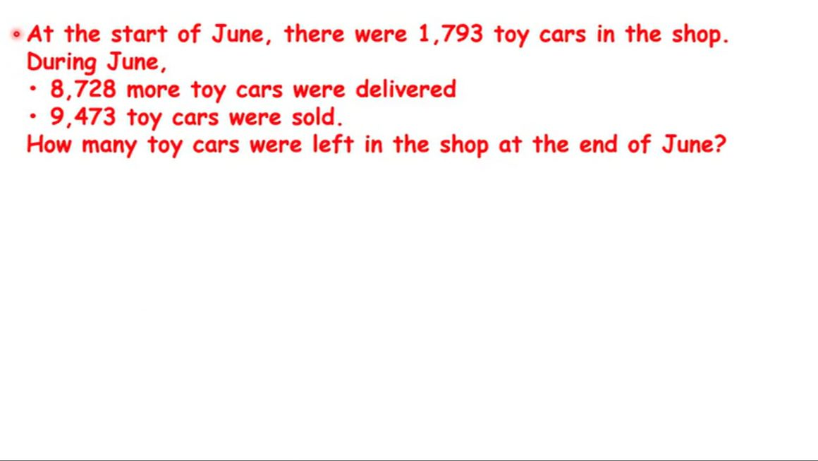 Toy cars in the shop – Gr4-5