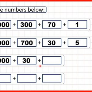 Partition four-digit numbers