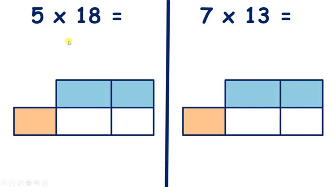 Practice multiplying by a teen number using the grid method