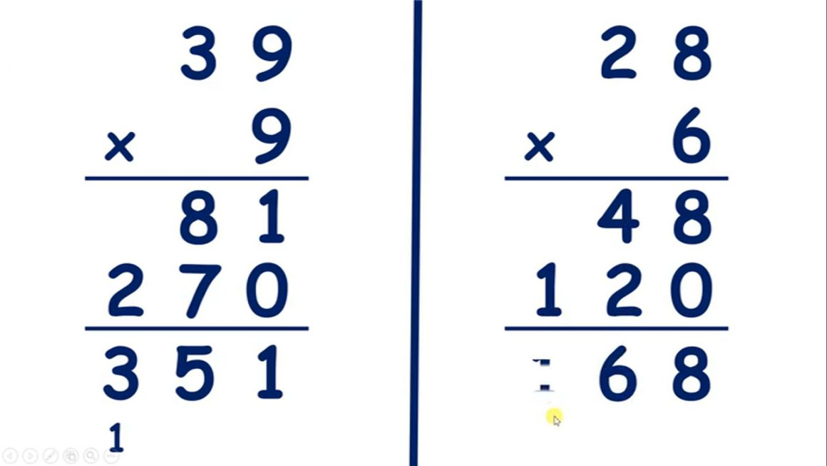 Practice multiplying by a two-digit number using an expanded method