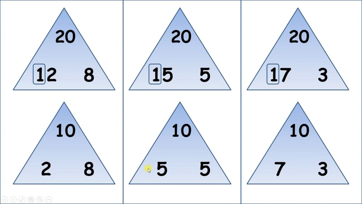 Recall number bonds to 20 and relate to number bods to 10