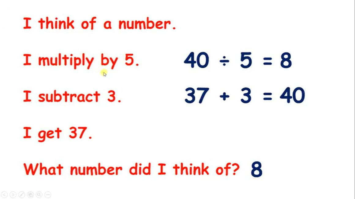 Solve number problems mentally – Visual