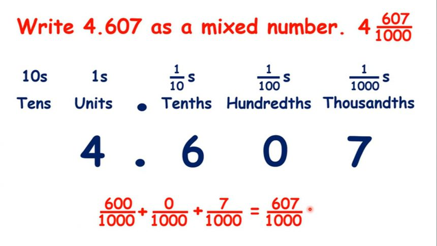write a decimal number as a mixed number  education moving up